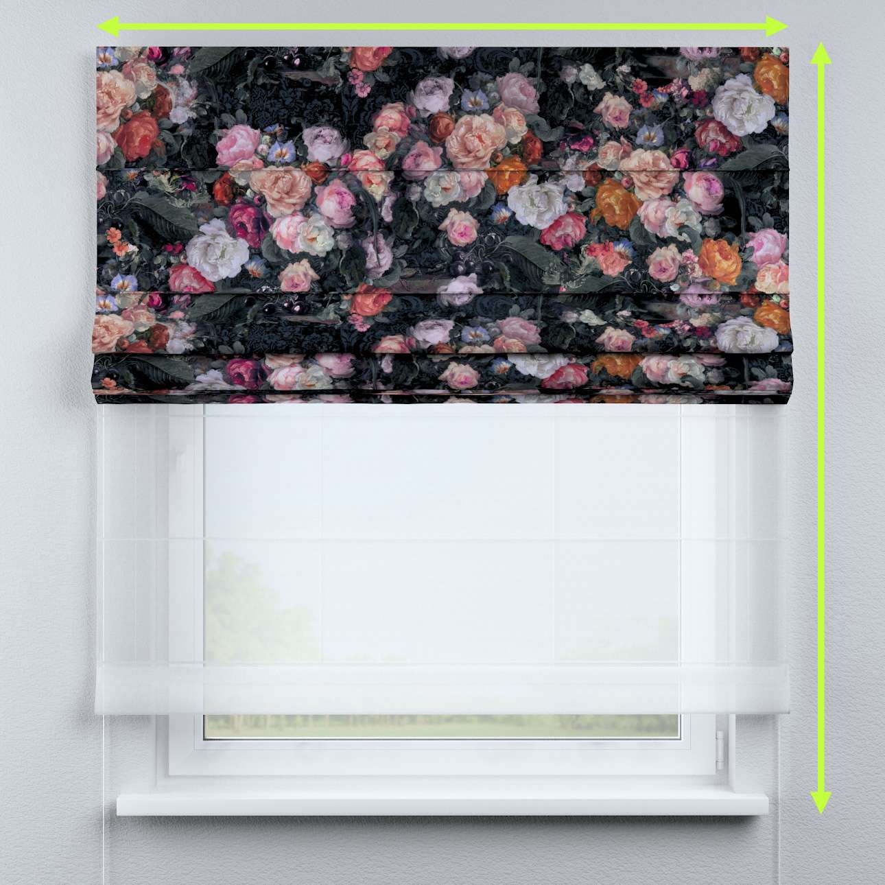 Raffrollo Duo von der Kollektion Gardenia, Stoff: 161-02