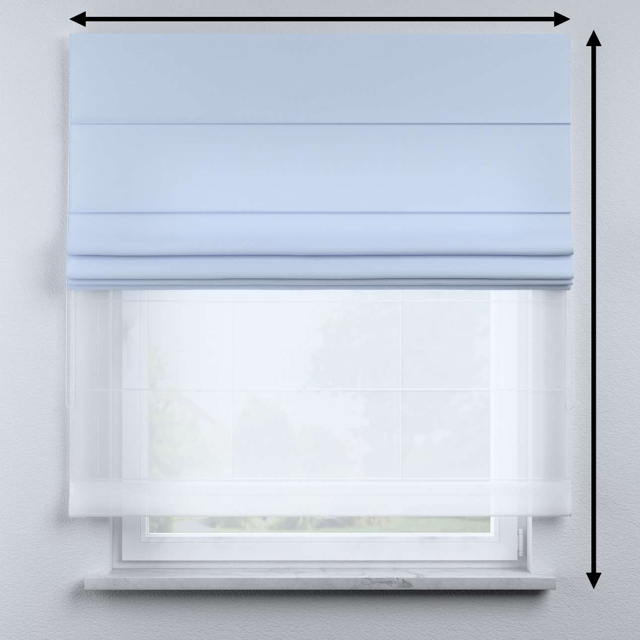 Voile and fabric roman blind (DUO II) in collection Happiness, fabric: 133-35