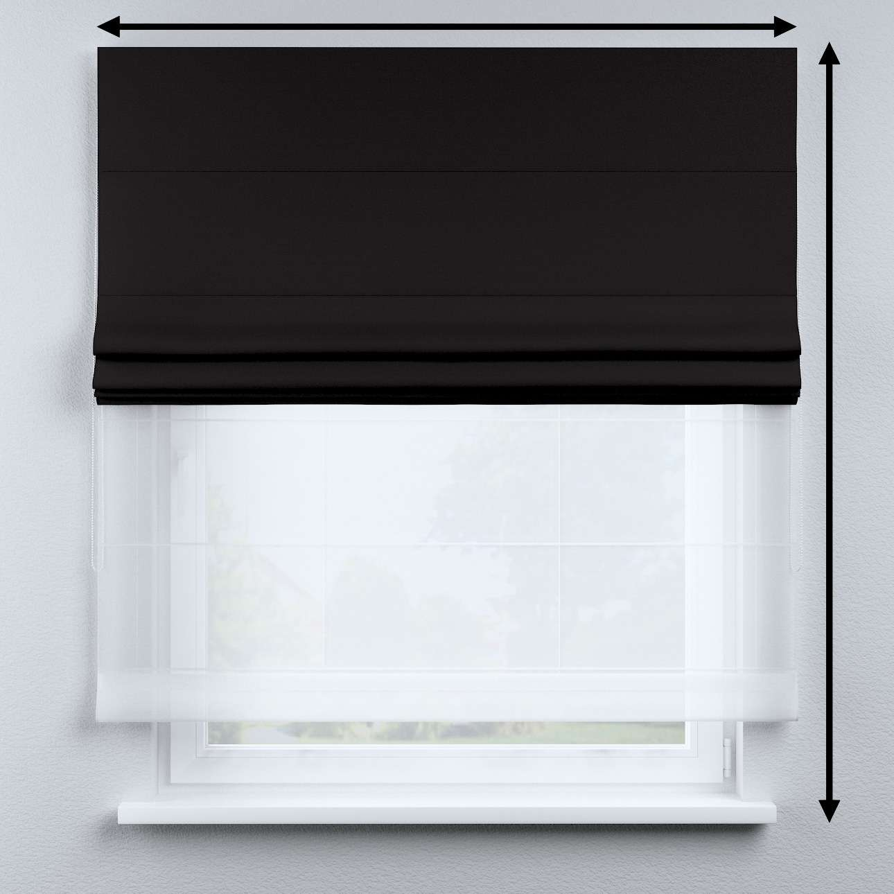 Voile and fabric roman blind (DUO II) in collection Cotton Story, fabric: 702-09