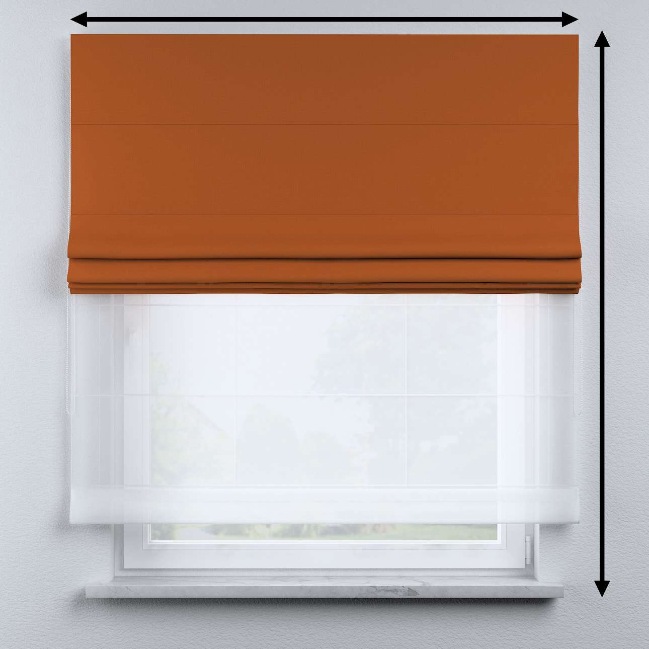 Raffrollo Duo 130×170cm von der Kollektion Cotton Story, Stoff: 702-42