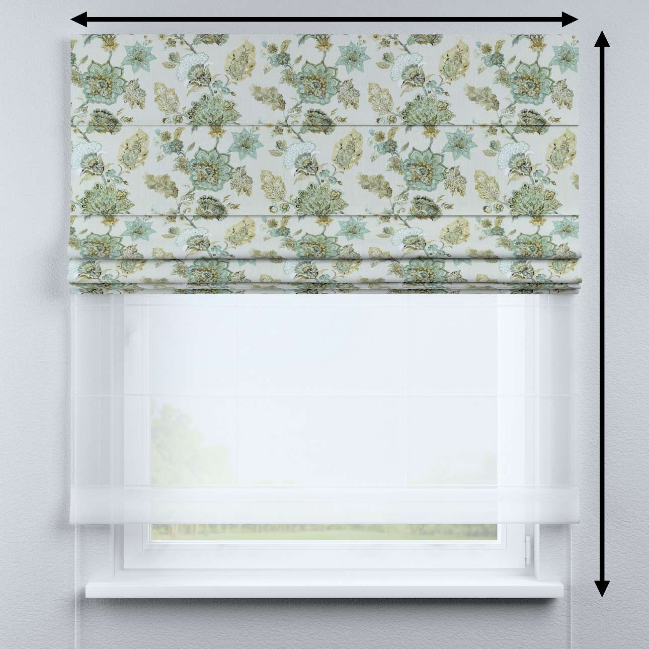 DUO Rímska roleta V kolekcii Flowers, tkanina: 143-67