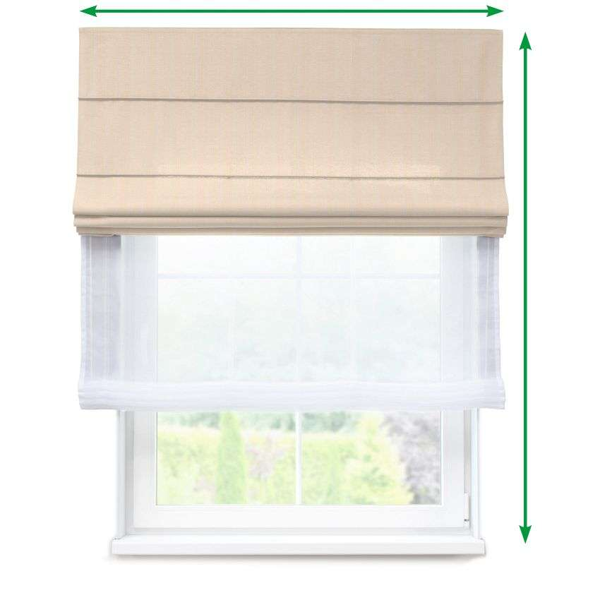 Voile and fabric roman blind (DUO II) in collection Odisea, fabric: 411-01