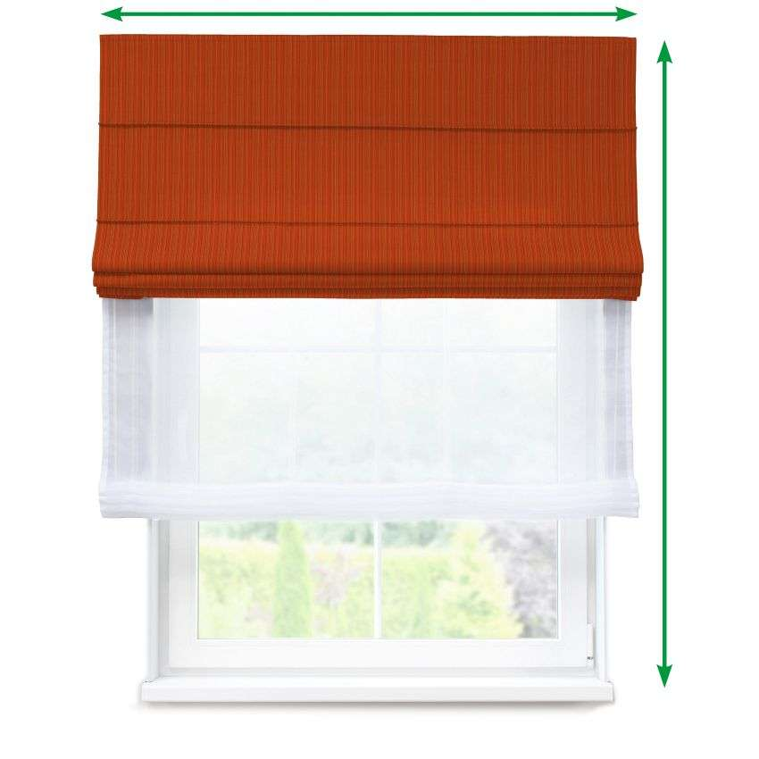 Voile and fabric roman blind (DUO II) in collection SALE, fabric: 411-38
