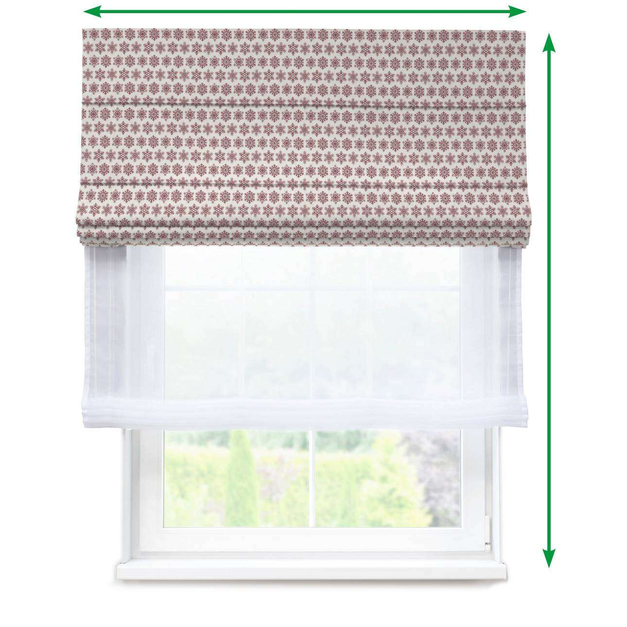 Voile and fabric roman blind (DUO II) in collection Christmas, fabric: 630-22