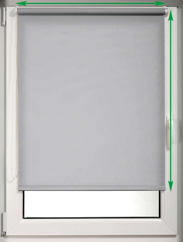 Mini roller blind (compact design for fitting inside window recess) in collection Roller blind blackout, fabric: 10363