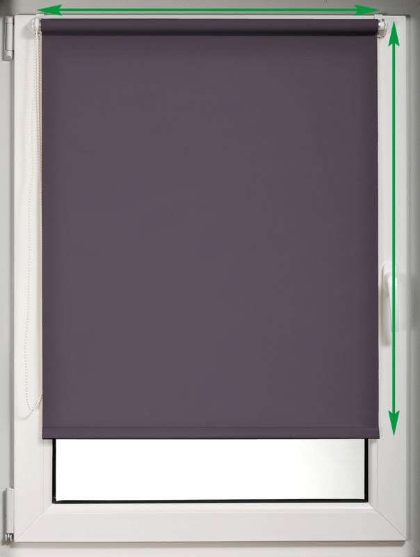 Mini roller blind (compact design for fitting inside window recess) in collection Roller blind blackout, fabric: 10366