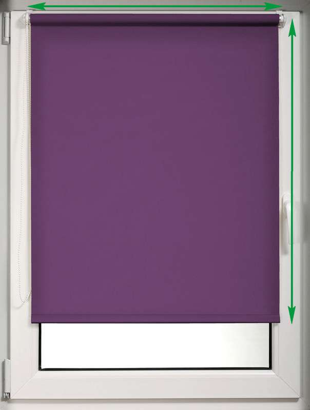 Mini roller blind (compact design for fitting inside window recess) in collection Roller blind blackout, fabric: 10368