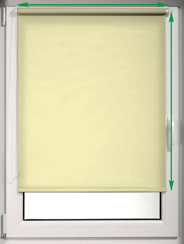 Mini roller blind (compact design for fitting inside window recess) in collection Roller blind blackout, fabric: 10371
