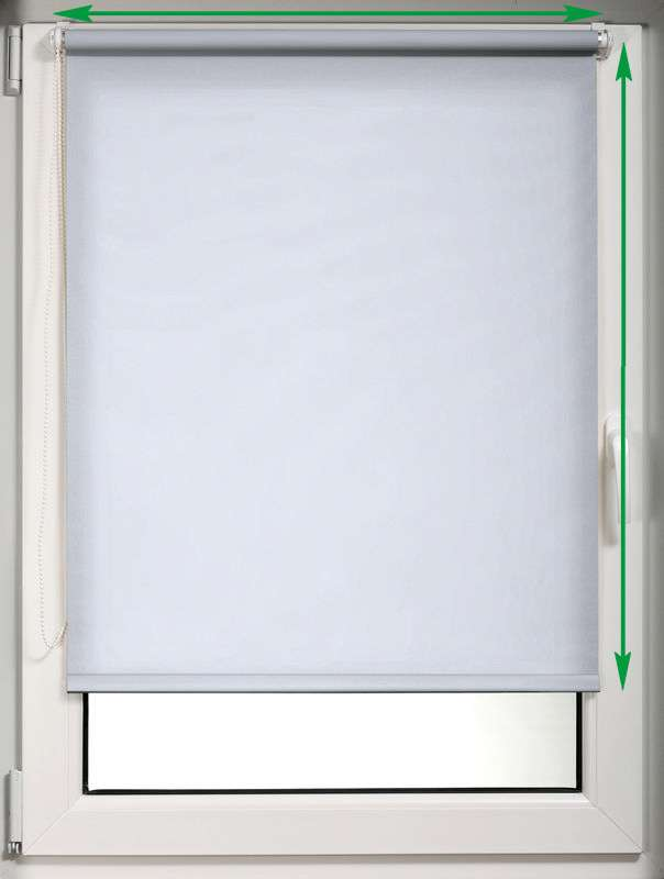 Mini roller blind (compact design for fitting inside window recess) in collection Roller blind blackout, fabric: 7943