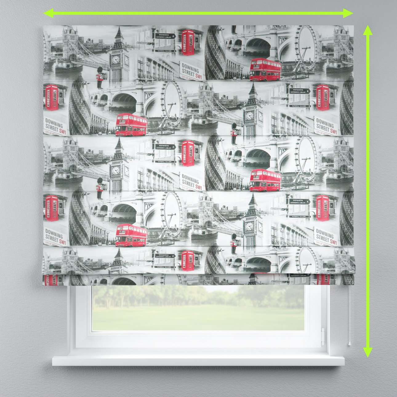 Lined roman blind in collection Comic Book & Geo Prints, fabric: 111-04