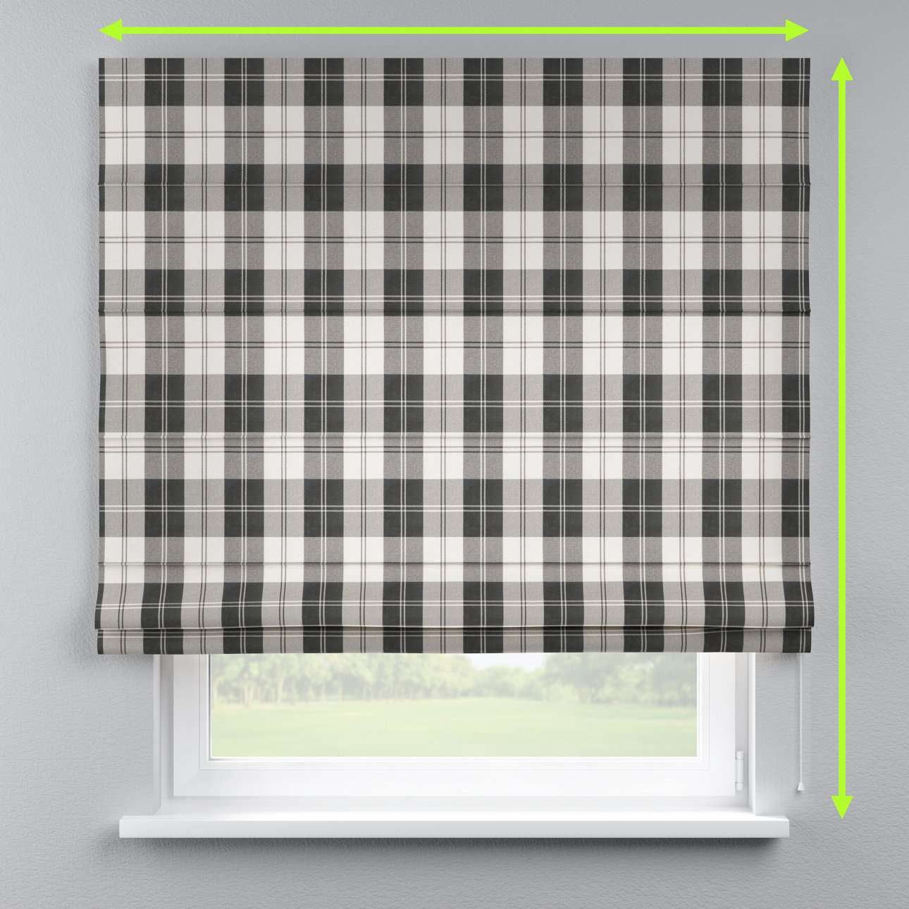 Lined roman blind in collection Edinburgh , fabric: 115-74