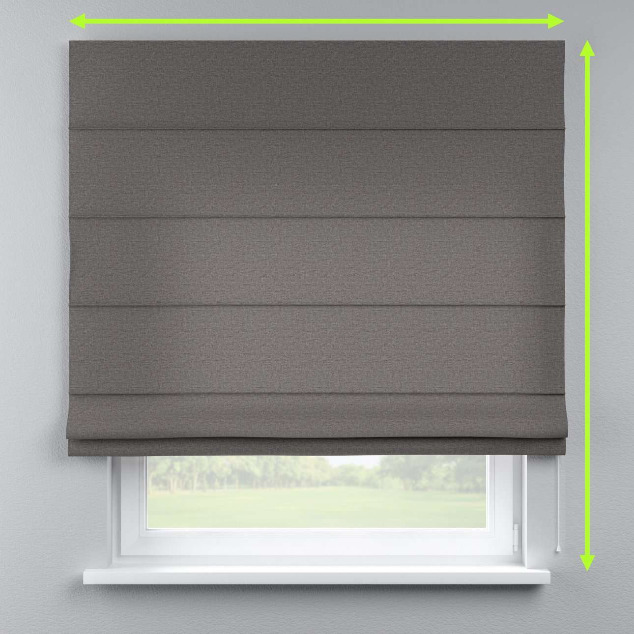 Lined roman blind in collection Edinburgh , fabric: 115-77