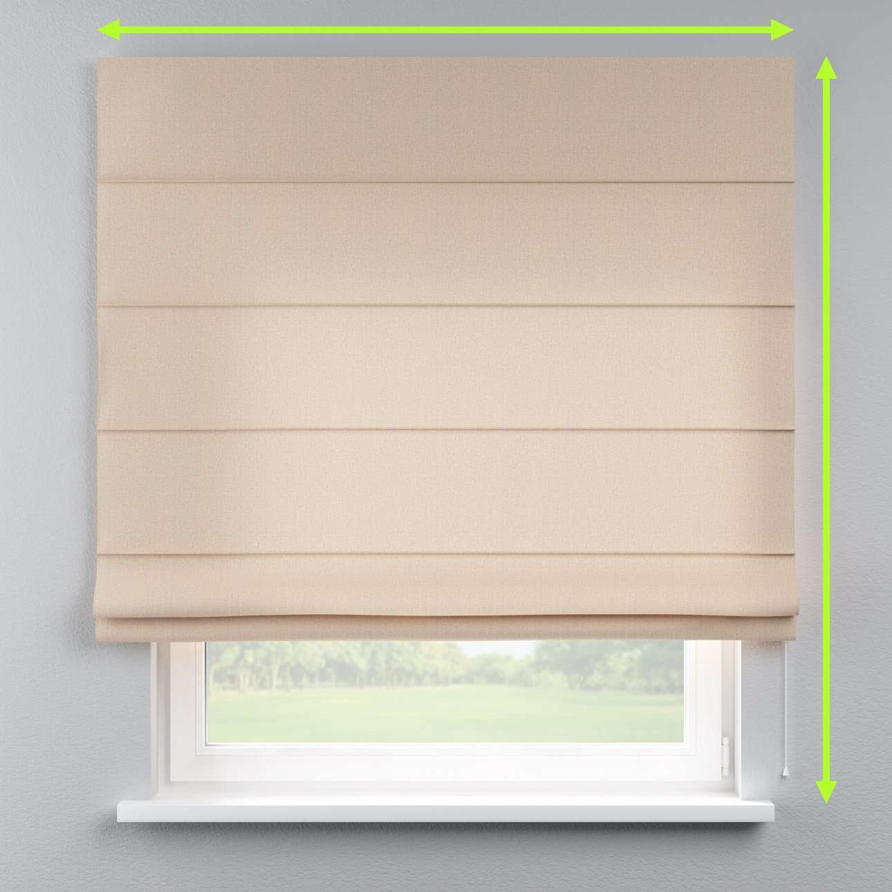 Lined roman blind in collection Edinburgh , fabric: 115-78