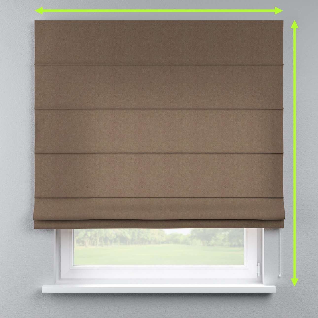 Lined roman blind in collection Edinburgh , fabric: 115-85