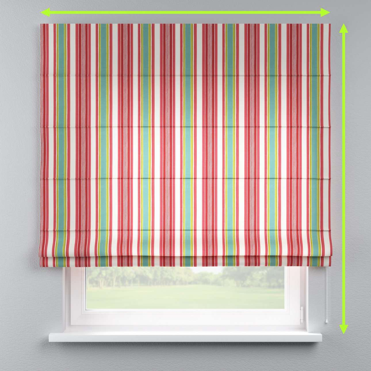 Lined roman blind in collection Londres, fabric: 122-01