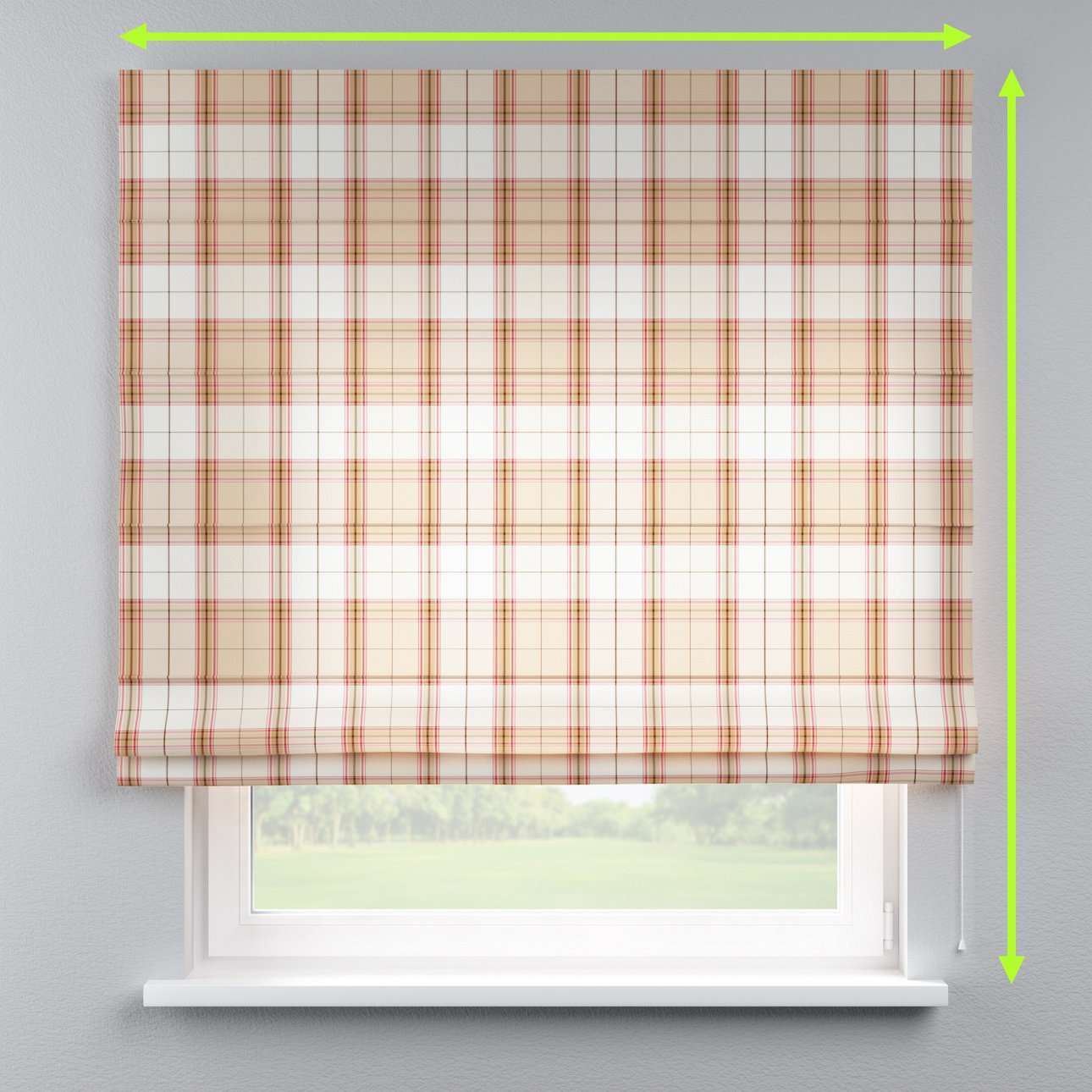 Lined roman blind in collection Bristol, fabric: 125-09