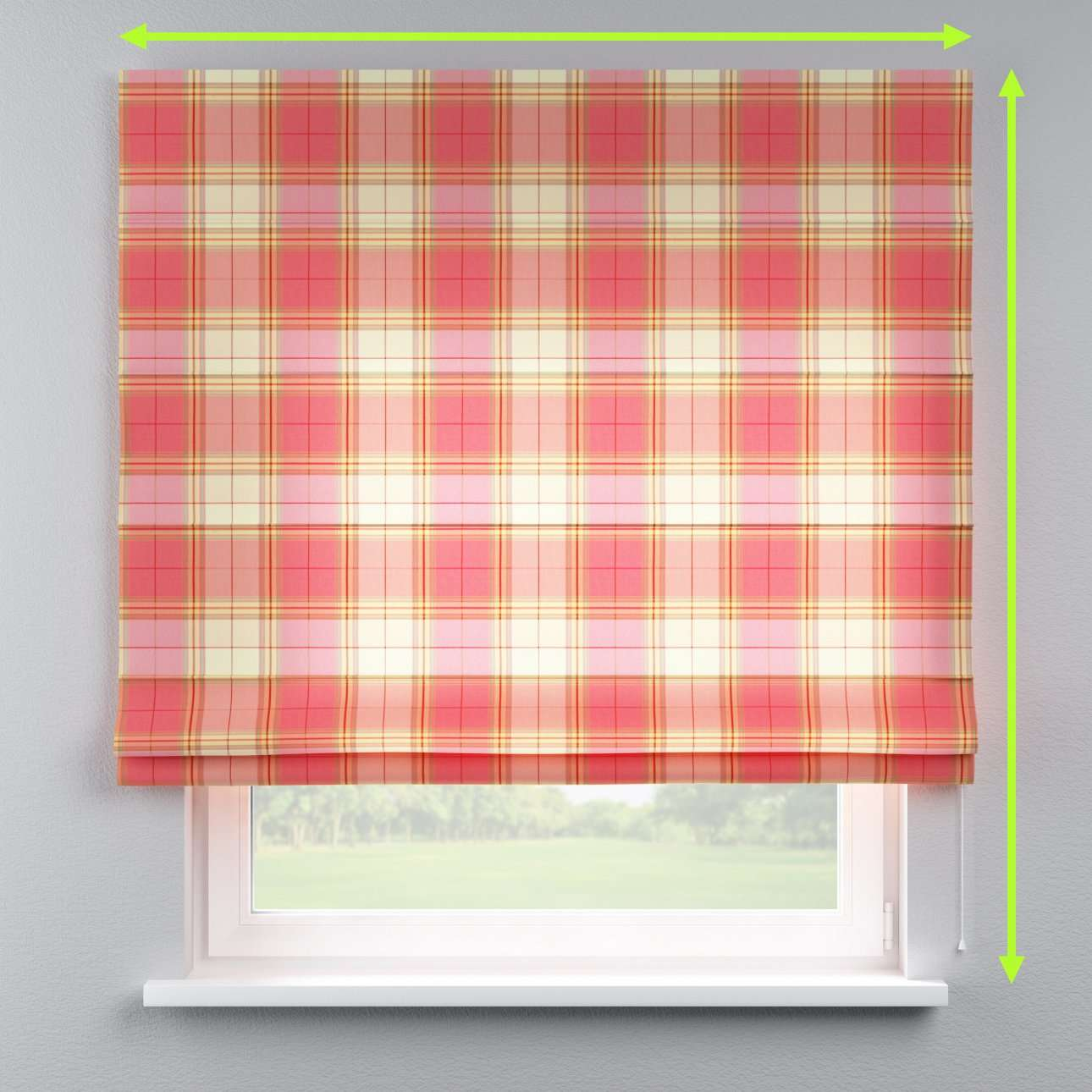 Lined roman blind in collection Bristol, fabric: 125-25