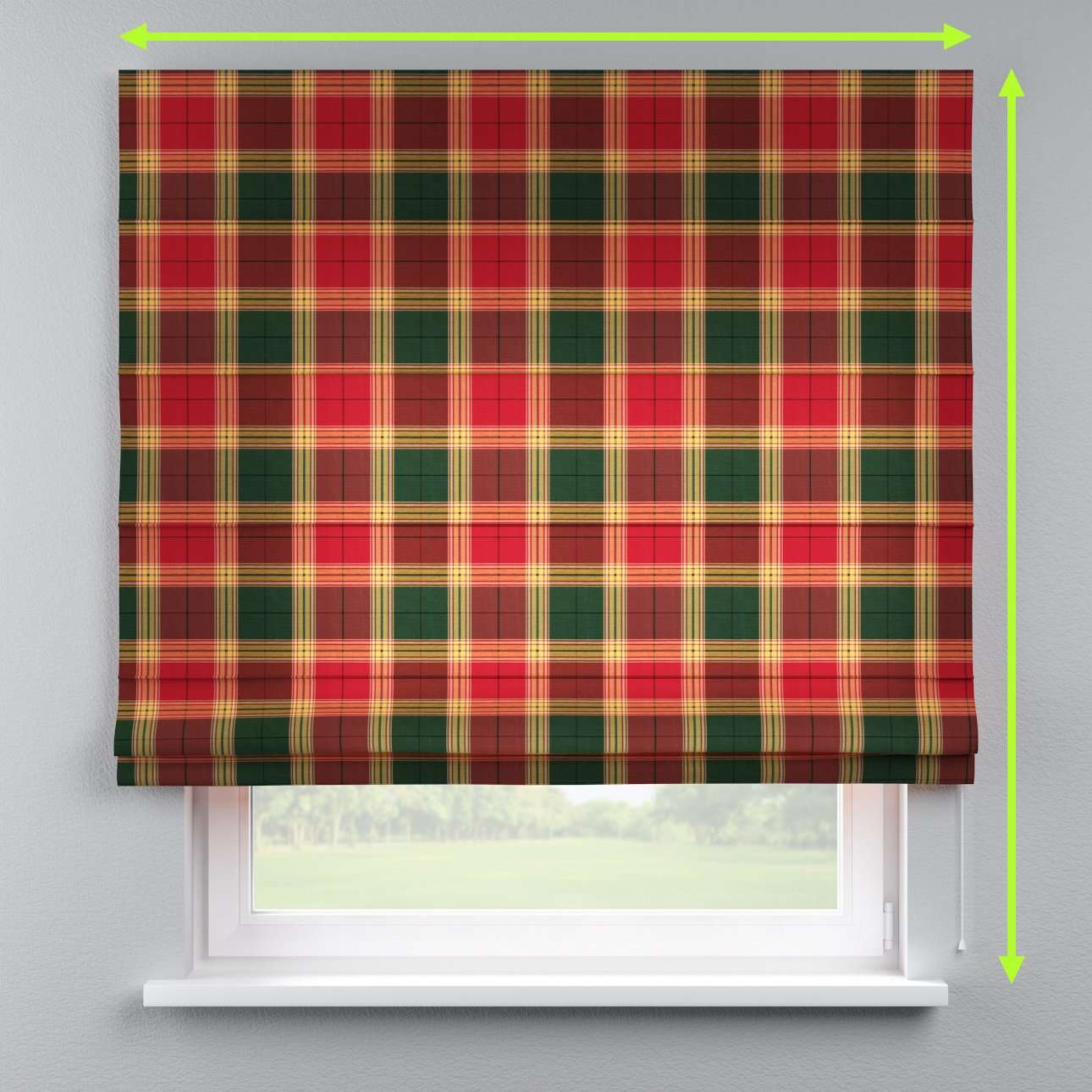 Lined roman blind in collection Bristol, fabric: 125-48