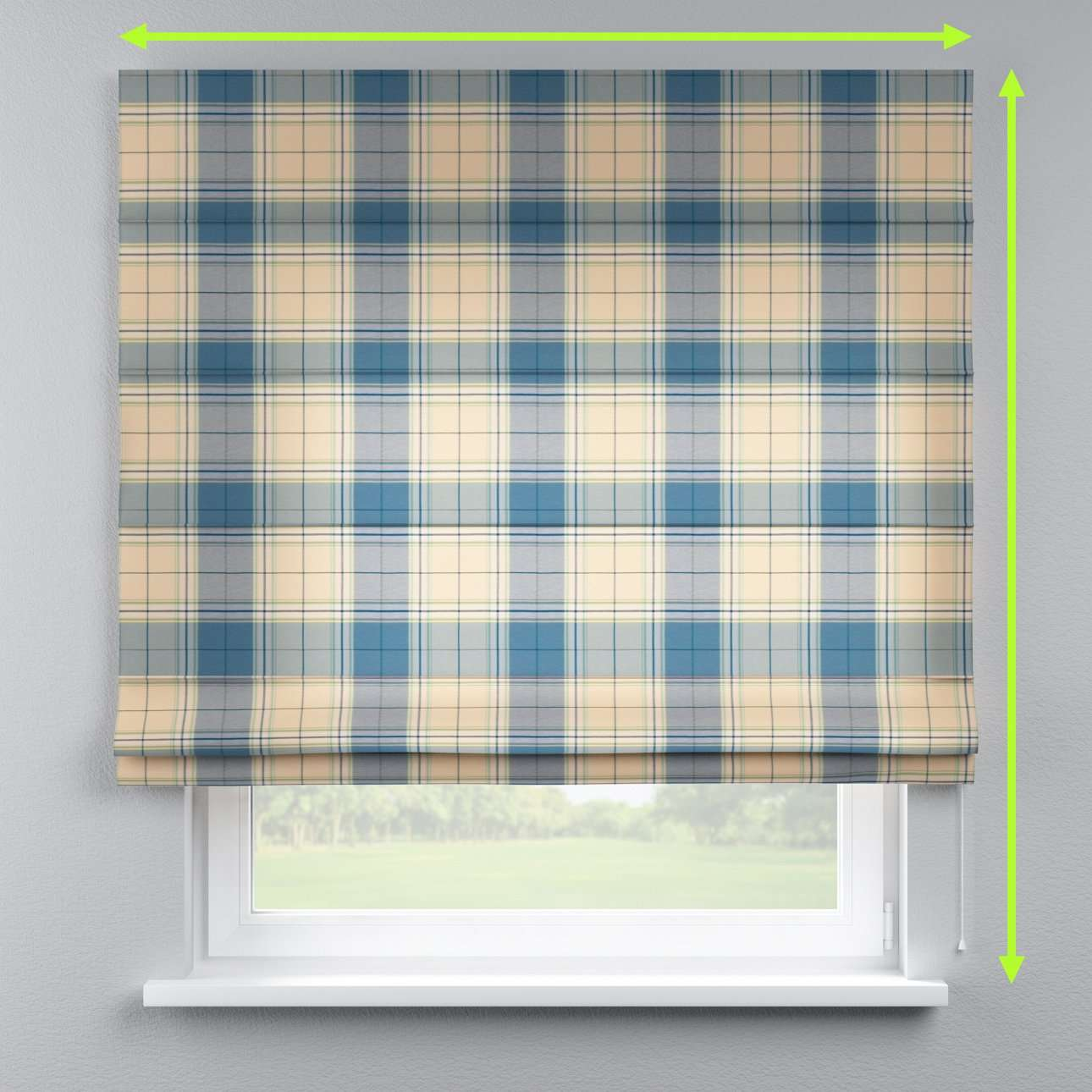 Lined roman blind in collection Bristol, fabric: 125-69