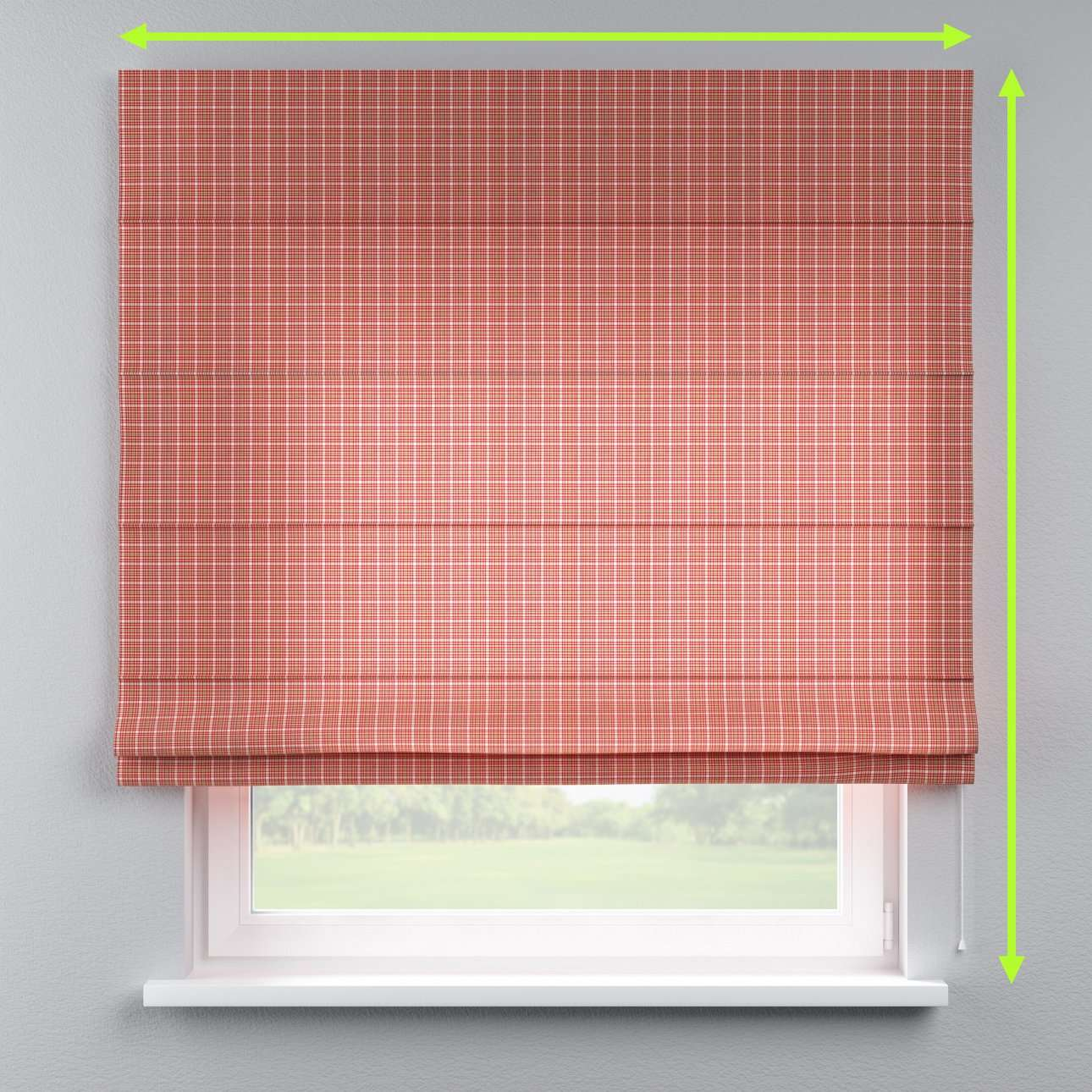 Lined roman blind in collection Bristol, fabric: 126-15