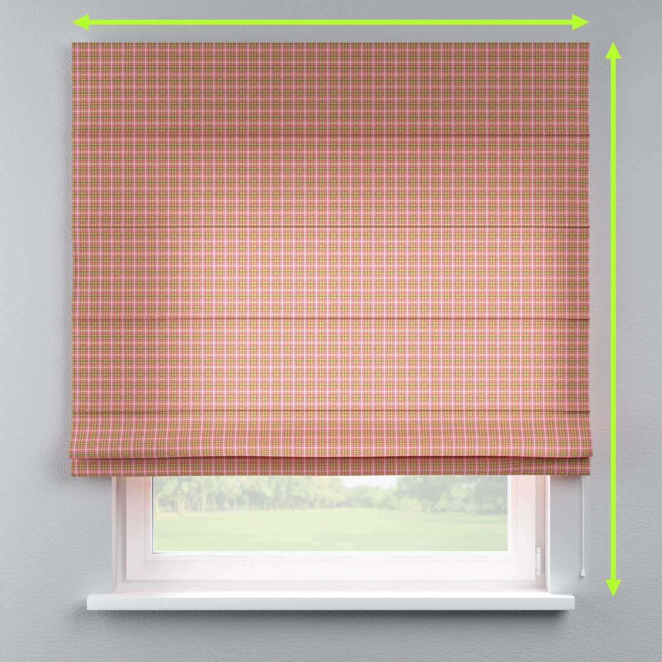 Lined roman blind in collection Bristol, fabric: 126-25