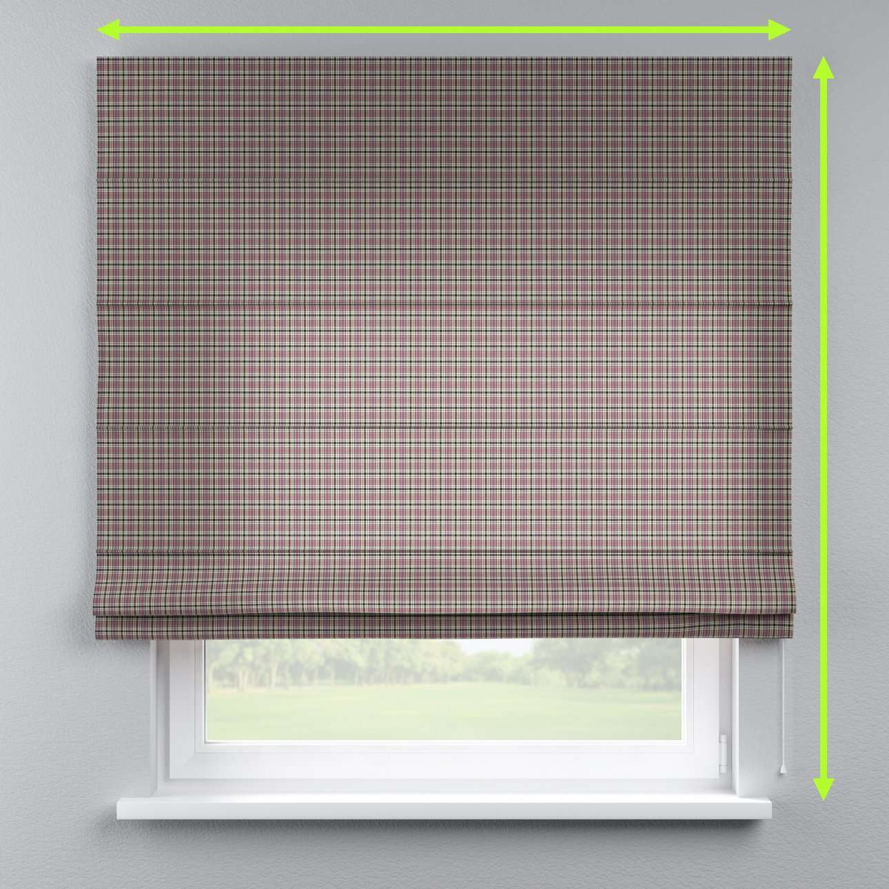 Lined roman blind in collection Bristol, fabric: 126-32