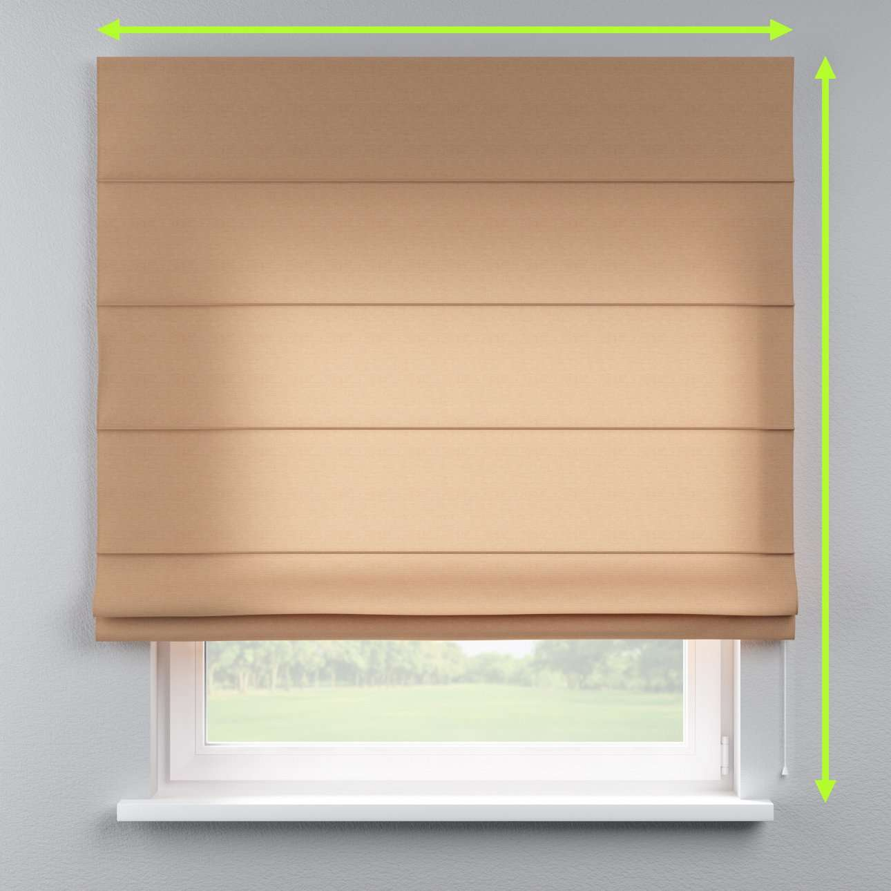 Lined roman blind in collection Jupiter, fabric: 127-04