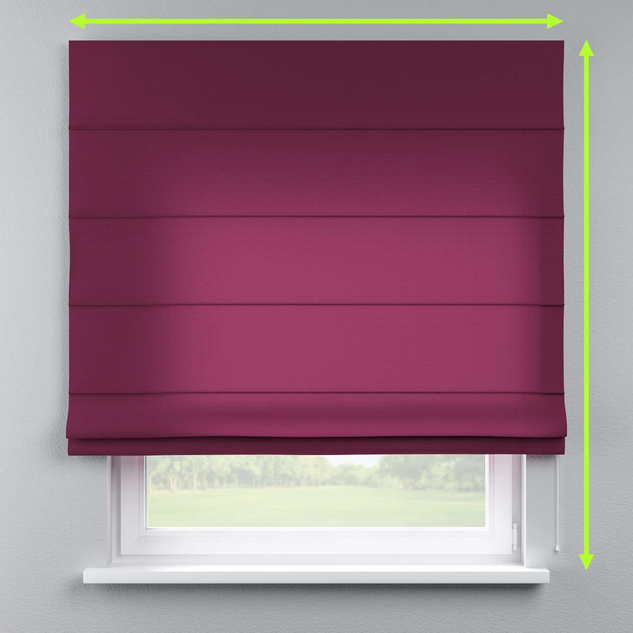 Lined roman blind in collection Jupiter, fabric: 127-20
