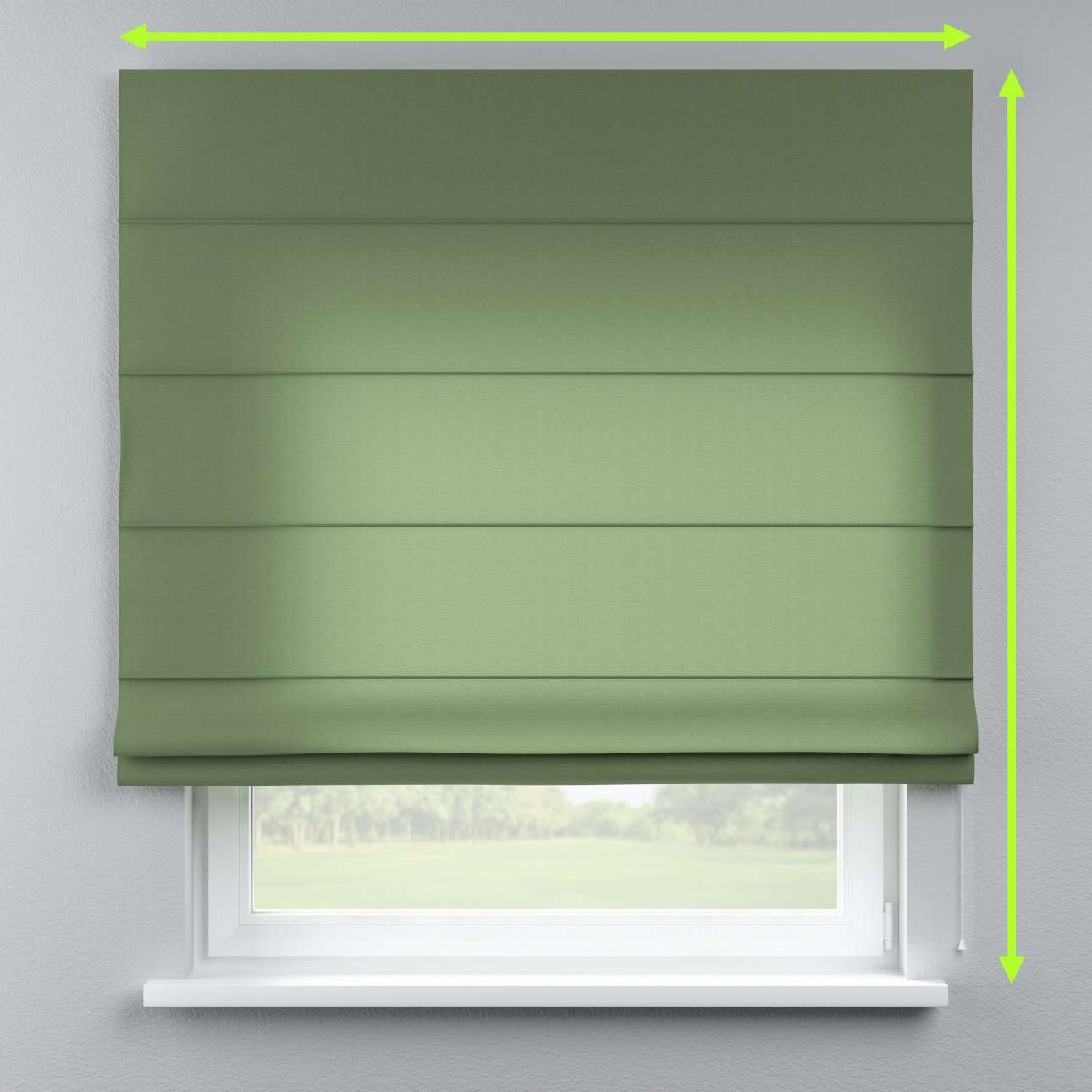 Lined roman blind in collection Jupiter, fabric: 127-52