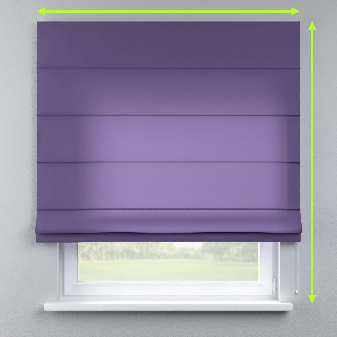 Lined roman blind in collection Jupiter, fabric: 127-75