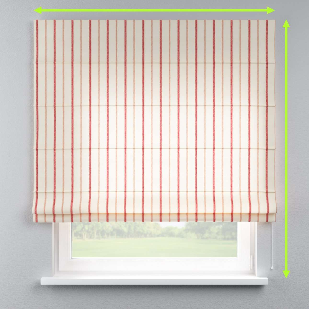 Lined roman blind in collection Avinon, fabric: 129-15