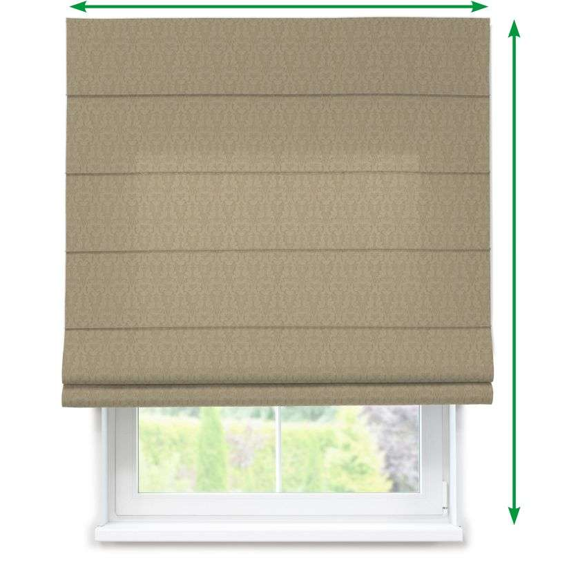 Lined roman blind in collection Victoria, fabric: 130-03