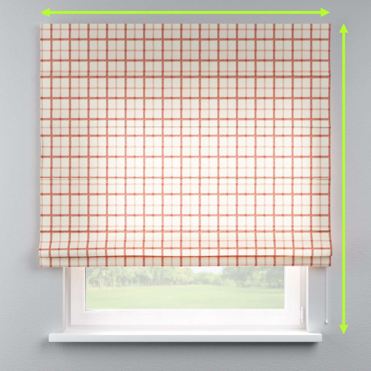 Lined roman blind in collection Avinon, fabric: 131-15