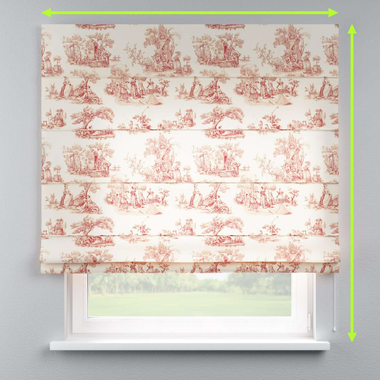 Lined roman blind in collection Avinon, fabric: 132-15