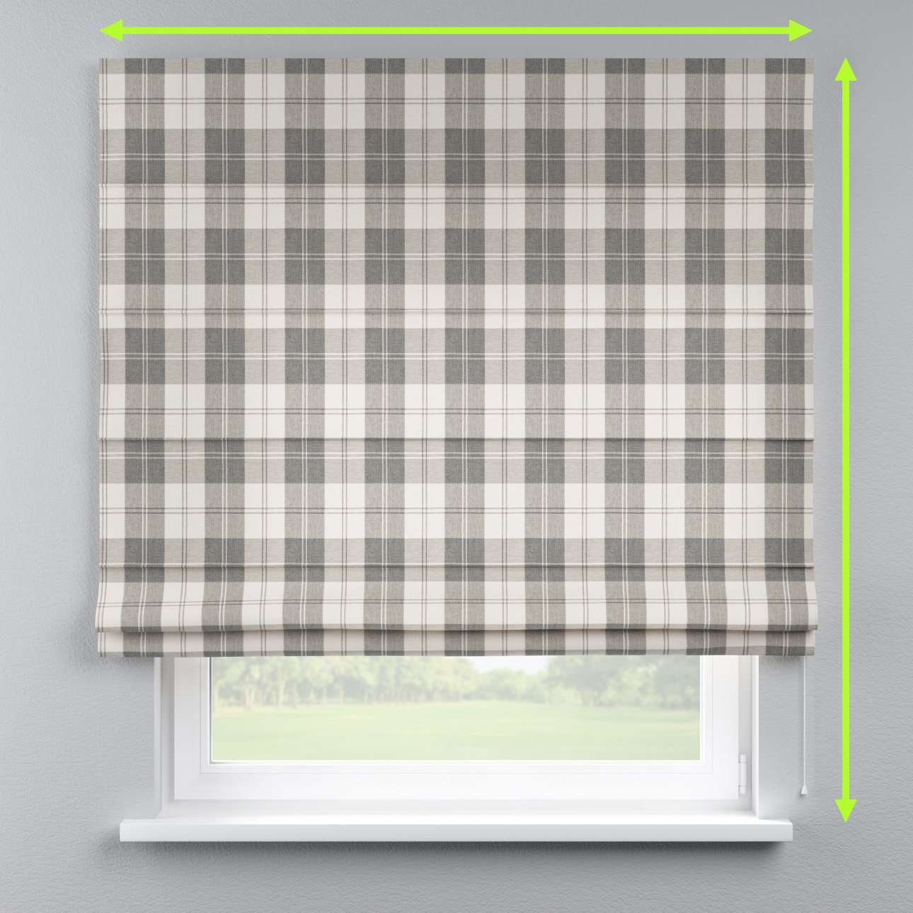 Lined roman blind in collection Edinburgh, fabric: 115-79