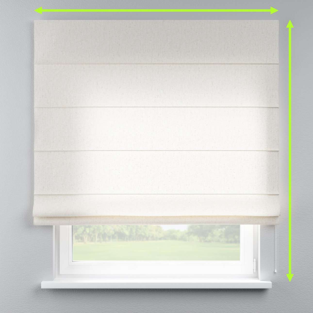 Lined roman blind in collection Loneta , fabric: 133-01