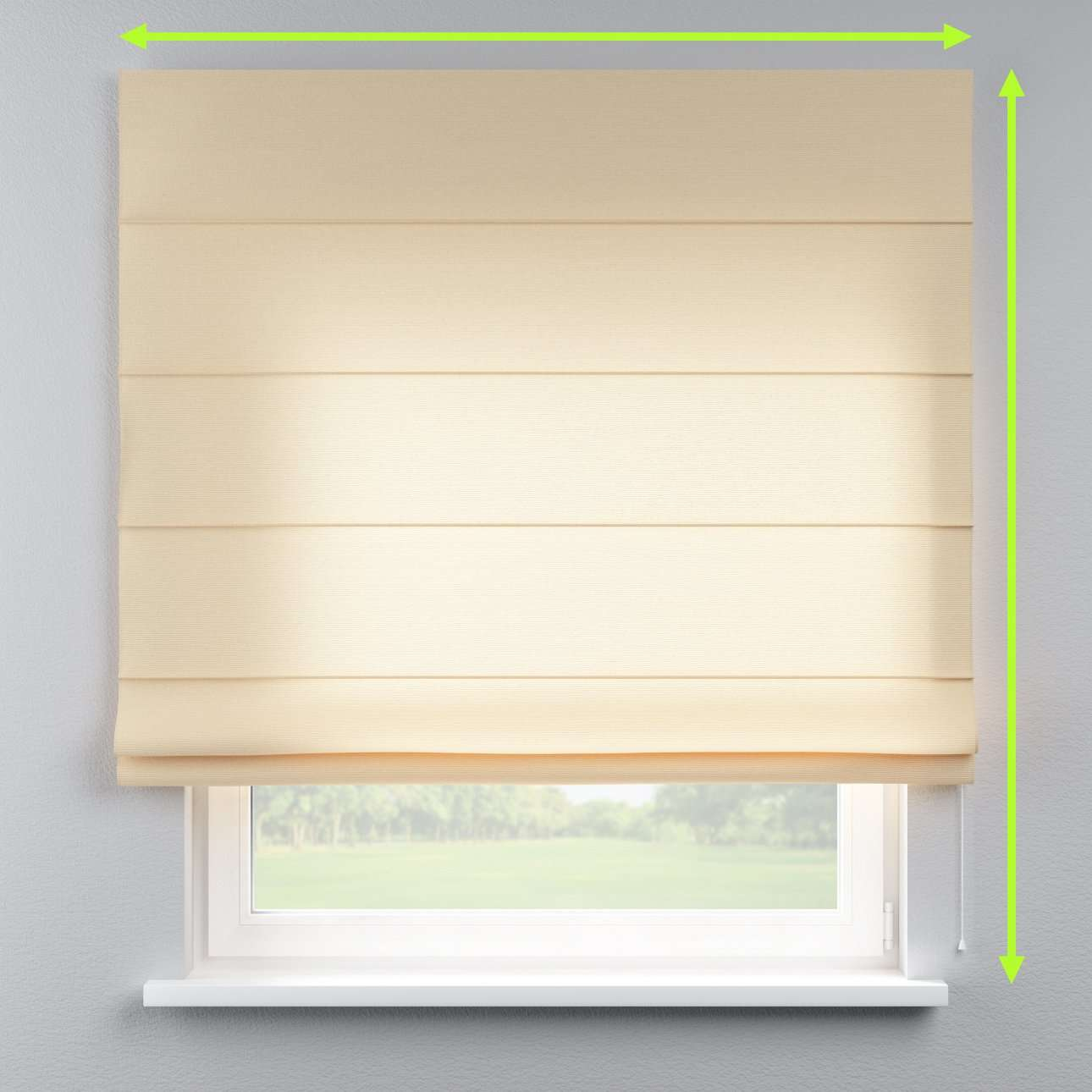 Lined roman blind in collection Loneta , fabric: 133-04