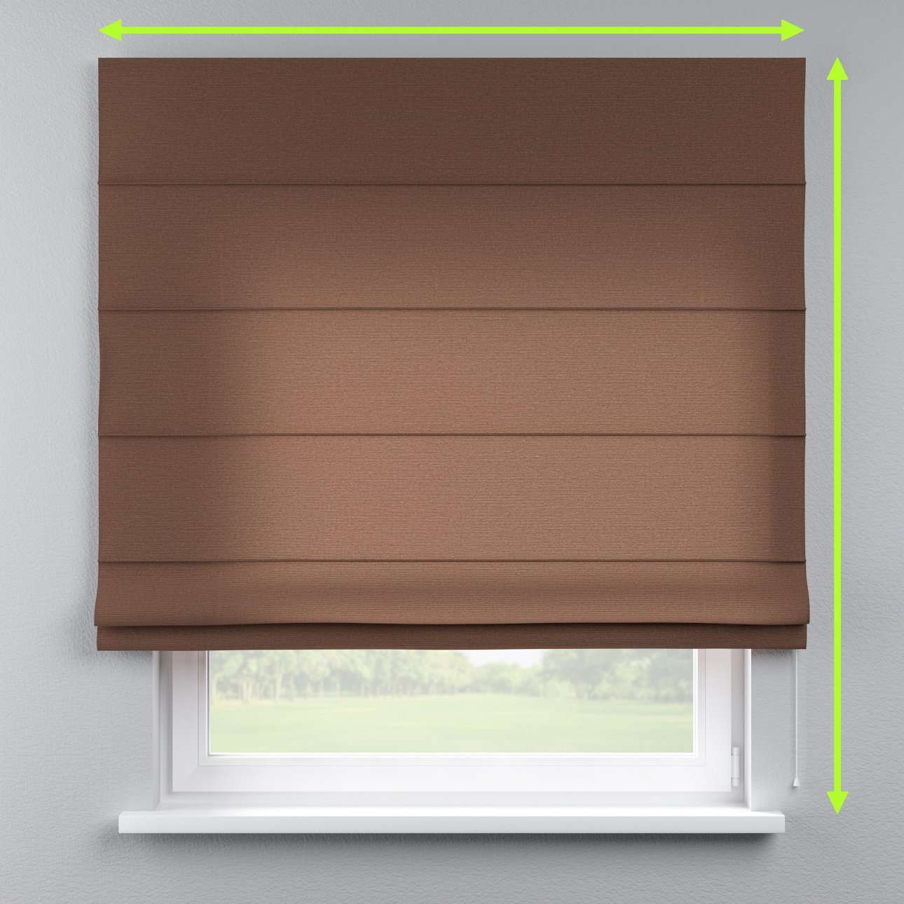 Lined roman blind in collection Loneta , fabric: 133-09