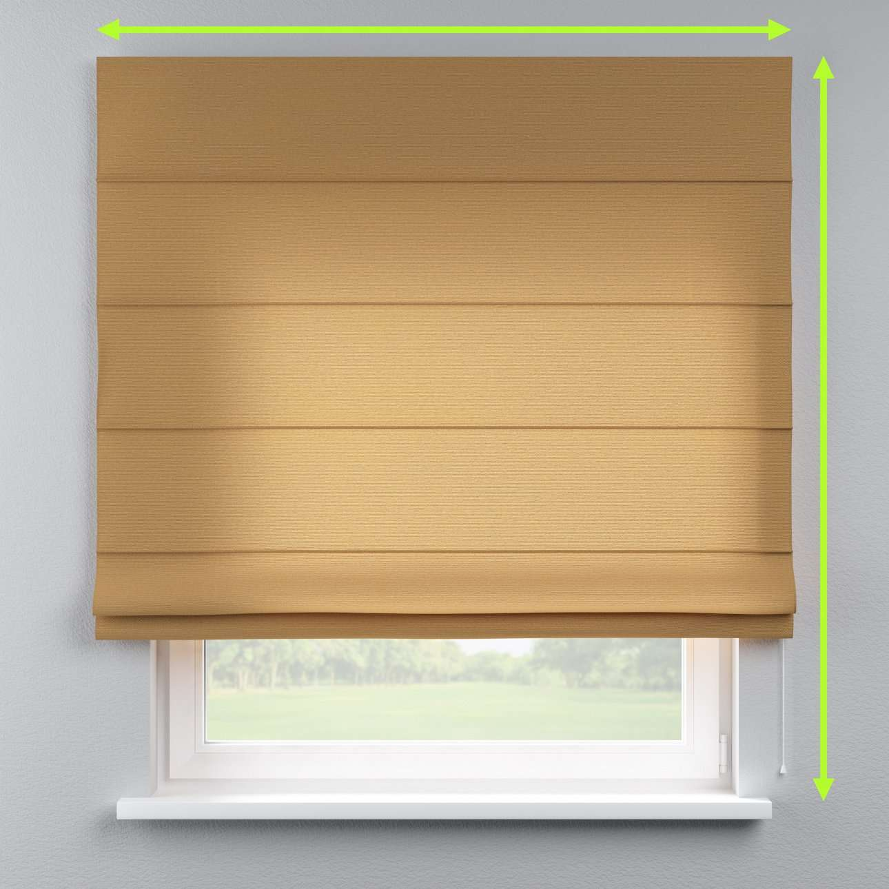 Lined roman blind in collection Loneta , fabric: 133-12
