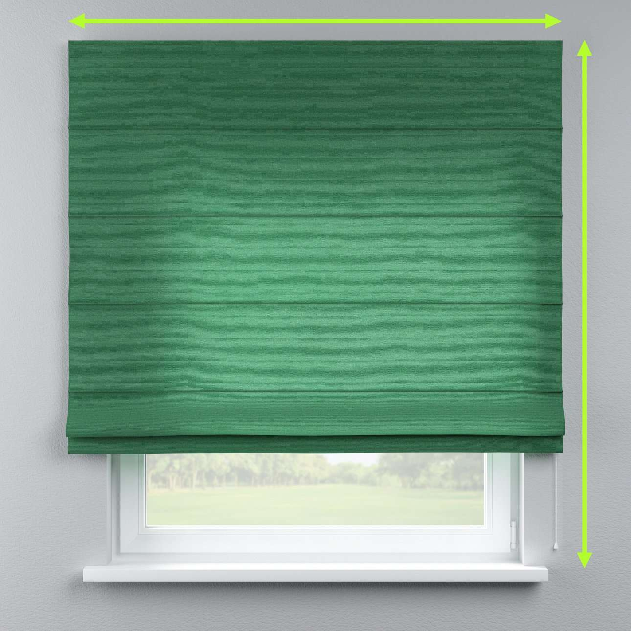 Lined roman blind in collection Loneta , fabric: 133-18