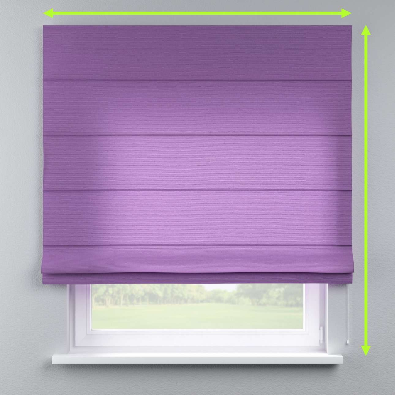 Lined roman blind in collection Loneta , fabric: 133-19