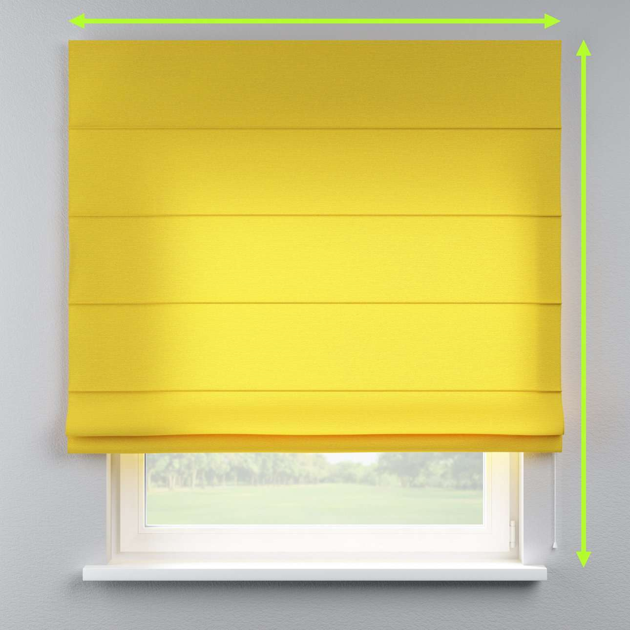 Lined roman blind in collection Loneta , fabric: 133-55