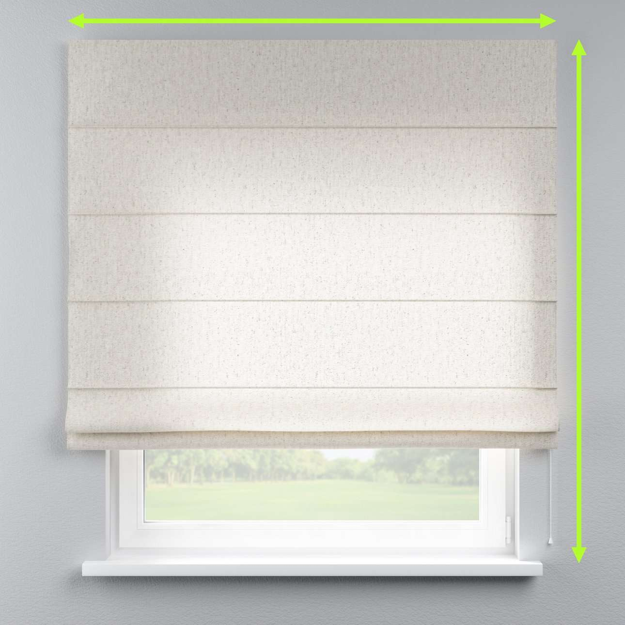 Lined roman blind in collection Loneta , fabric: 133-65