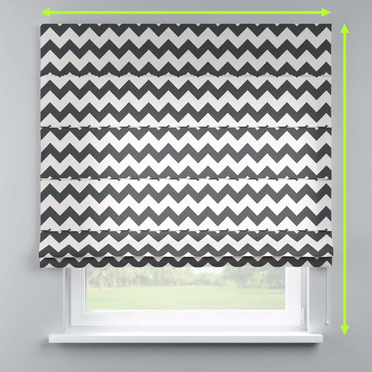 Lined roman blind in collection Comic Book & Geo Prints, fabric: 135-02