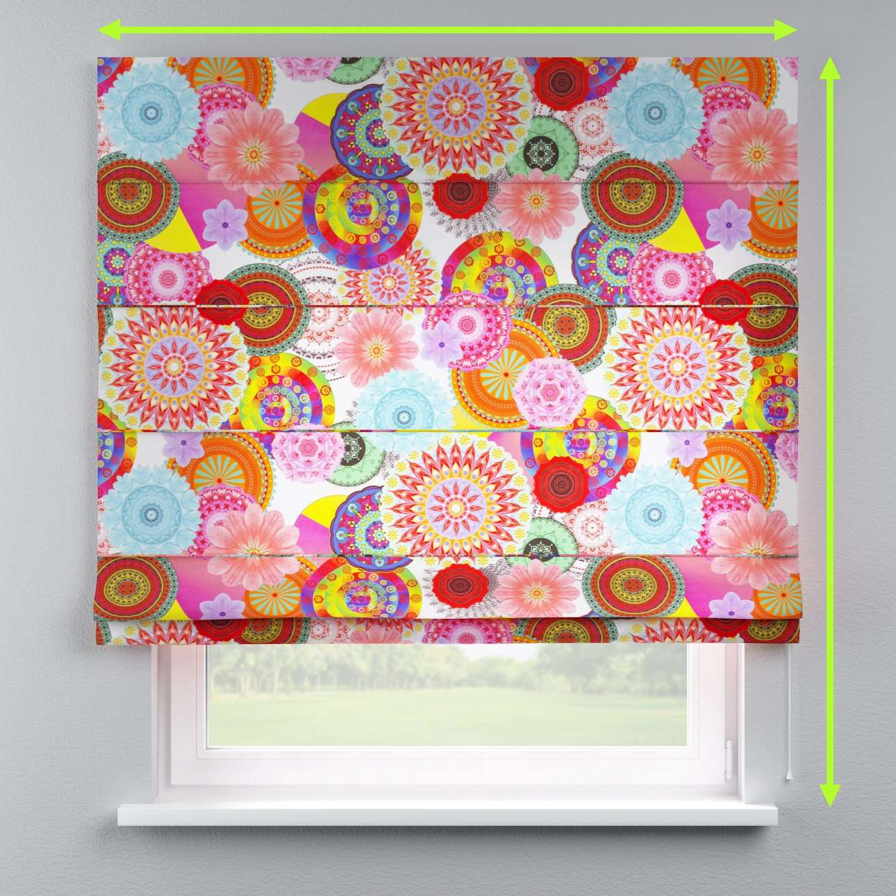 Lined roman blind in collection Comic Book & Geo Prints, fabric: 135-22
