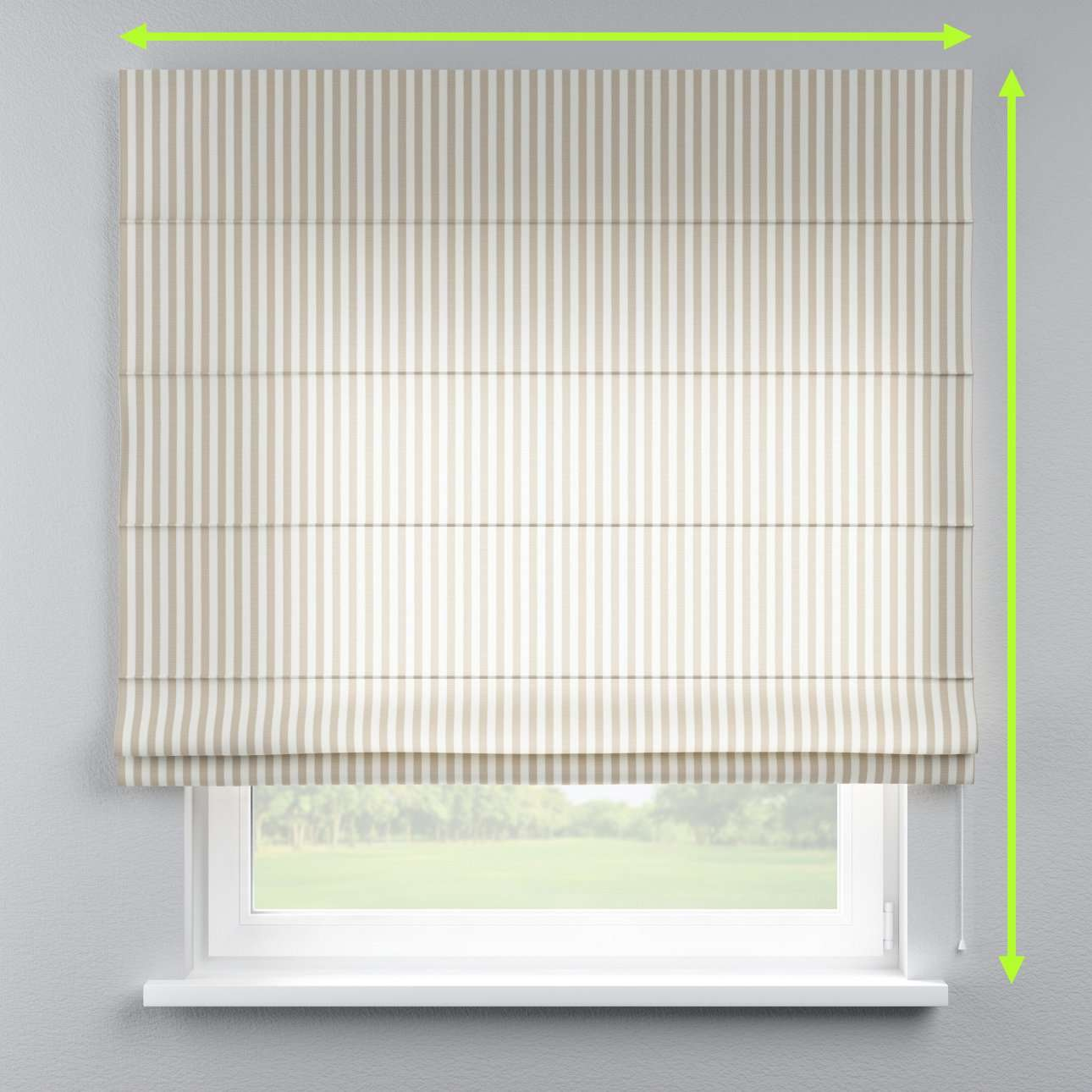 Lined roman blind in collection Quadro, fabric: 136-07