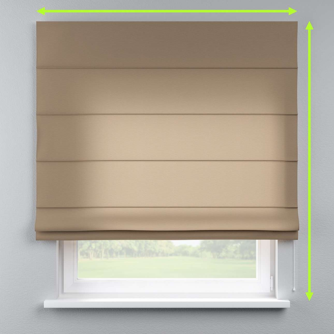 Lined roman blind in collection Quadro, fabric: 136-09