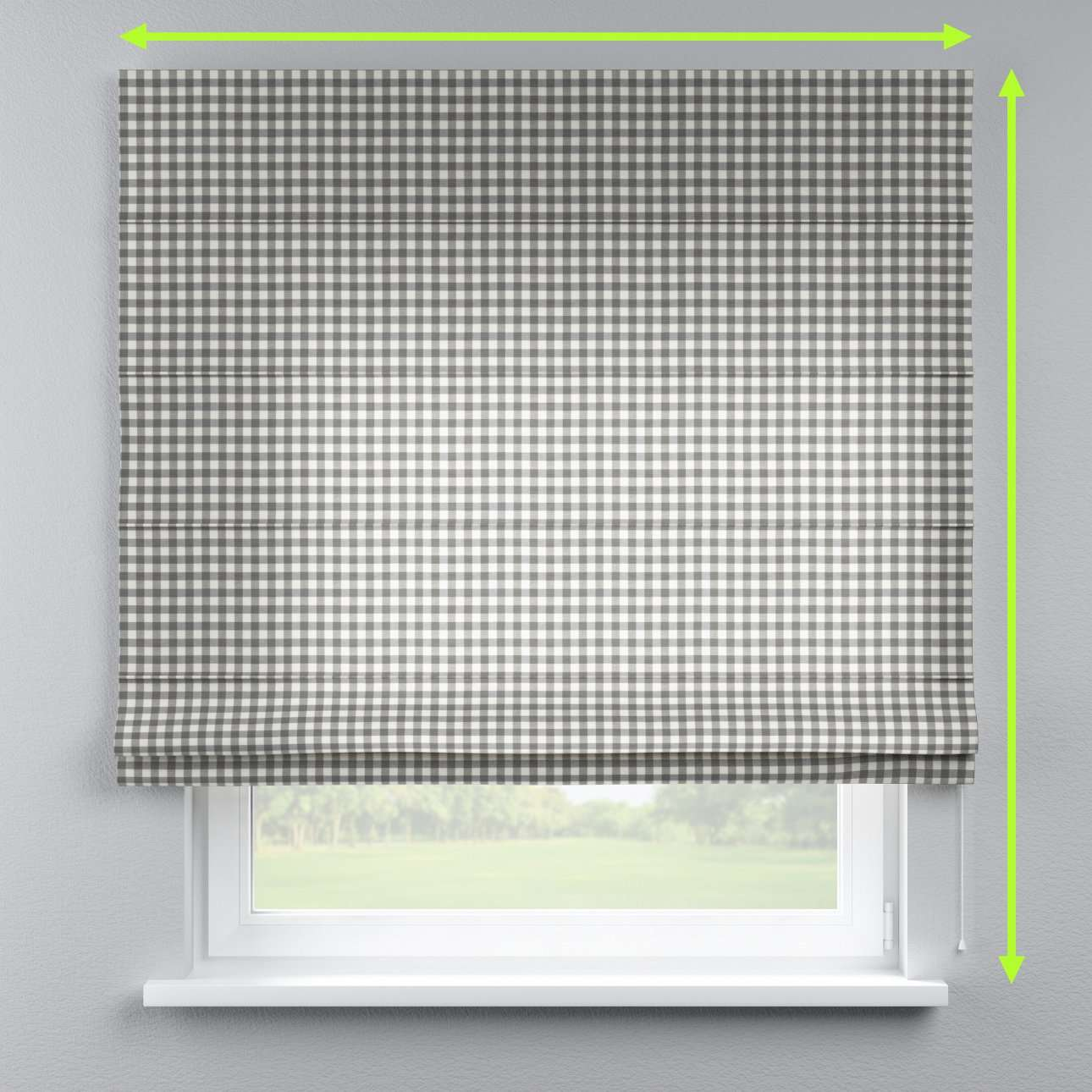 Lined roman blind in collection Quadro, fabric: 136-11