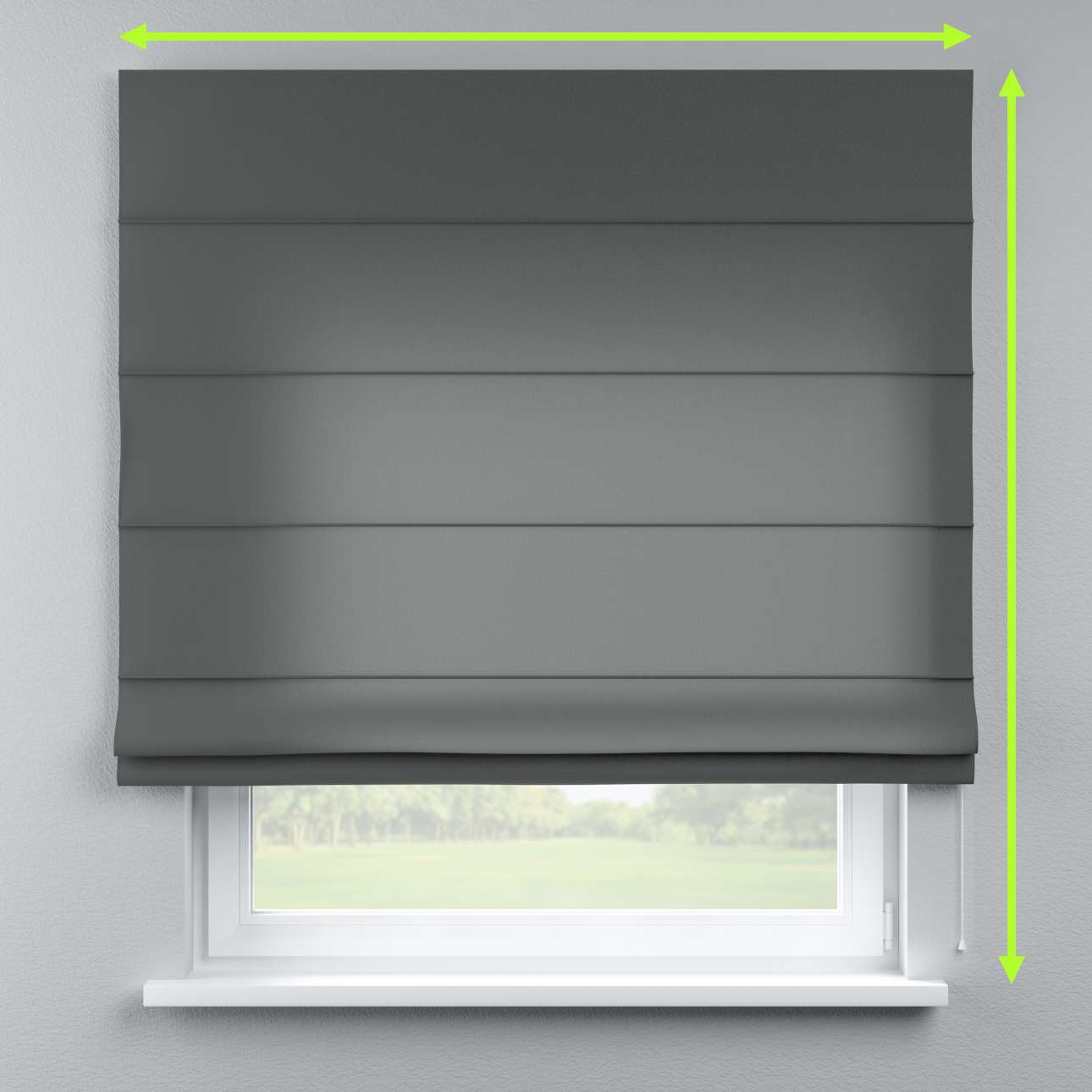 Lined roman blind in collection Quadro, fabric: 136-14