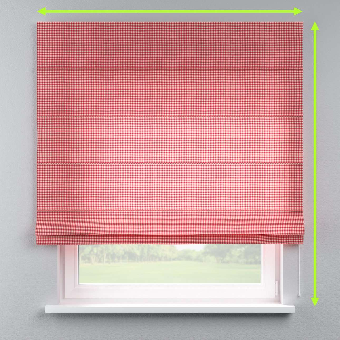 Lined roman blind in collection Quadro, fabric: 136-15